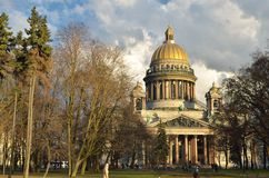 View of St. Isaac's Cathedral. Royalty Free Stock Images
