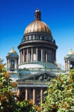 View of St. Isaac's Cathedral in St. Petersburg Stock Photos