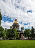 View of St. Isaac`s Cathedral. St. Petersburg. Russia royalty free stock image