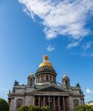 View of St. Isaac`s Cathedral. St. Petersburg. Russia stock photography