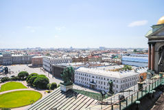 View from St. Isaac's Cathedral in St. Petersburg. Royalty Free Stock Photos