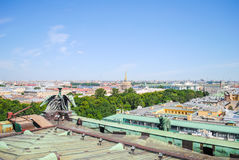 View from St. Isaac's Cathedral in St. Petersburg. Royalty Free Stock Photo