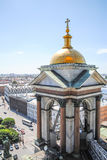 View from St. Isaac's Cathedral in St. Petersburg. Stock Photo
