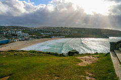View on St Ives. During a very windy day Royalty Free Stock Photo
