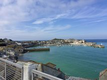 View of St. Ives. In Cornwall, UK stock photo