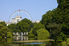 View from St. James's Park in London Royalty Free Stock Photography