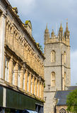 View of St. John the Baptist Church in Cardiff Stock Image