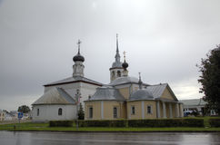 View St. Kazan and Holy Resurrection Church. Suzdal Royalty Free Stock Image