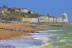 View of St Leonard's and Hastings town in South coast of UK Stock Photos