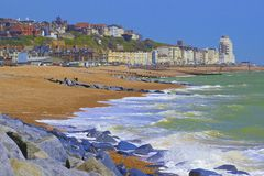 View of St Leonard's and Hastings town in South coast of UK Royalty Free Stock Photo
