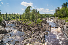 View of the St. Louis River in Jay Cooke State Park in Minnesota Royalty Free Stock Photo