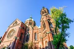 St. Lukas Church on Mariannenplatz in Munich, Germany royalty free stock image