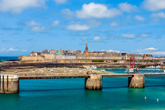 View on St Malo, Bretagne, France. Stock Photography