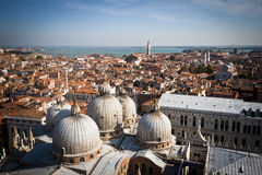 View of st mark's basilica from campanile tower Royalty Free Stock Photo
