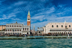 View of St Marks Square and Campanile in Venice Stock Image