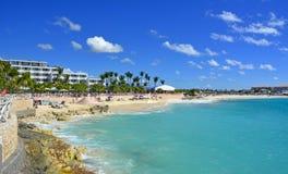 View of St Martin, beautiful Caribbean island Royalty Free Stock Photos