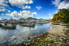 View of St Martin, beautiful Caribbean island Stock Photo