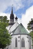 View of St Mary Cathedral Dome Church on Toompea Hill in old Tallinn, Estonia Stock Image