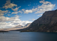 View of St Mary Lake in Glacier National Park  Stock Photo