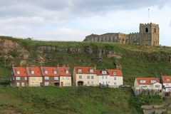 A View of St Mary's Church, Whitby, From the Sea Stock Photo
