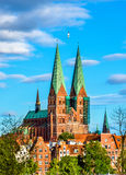 View of St. Marys Church in Lubeck - Germany Stock Photography