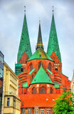 View of St. Marys Church in Lubeck - Germany Royalty Free Stock Image