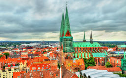 View of St. Marys Church in Lubeck - Germany Royalty Free Stock Photo
