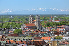 View of St. Maximilian Church from the tower of New Town Hall in Munich, Germany Stock Photography