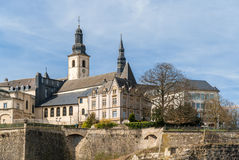 View of St Michael's Church in Luxembourg Royalty Free Stock Photography