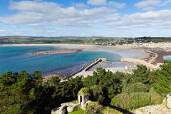 View from St Michaels Mount Cornwall England Stock Photography