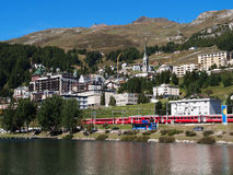 View Of St. Moritz Royalty Free Stock Image