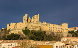 View of St. Nazaire Cathedral in Beziers, France Stock Photos