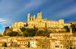 View of St. Nazaire Cathedral in Beziers Stock Photos