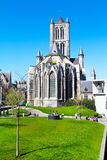View of St Nicholas' Church in Ghent,  Belgium Stock Photography