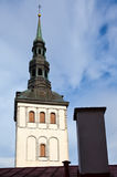 View on St. Nicholas' Church (Niguliste). Old city, Tallinn, Estonia Royalty Free Stock Photography