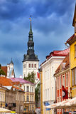 View on St. Nicholas' Church (Niguliste).Tallinn, Royalty Free Stock Photos