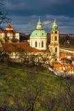 View of St.Nicholas Church-Prague,Czech Republic Stock Photos