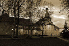 View of St. Nicholas Church Saint Euthymius monastery in Suzdal. Night. Autumn. Russia. Royalty Free Stock Photos