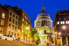 View of St Paul Cathedral in London Royalty Free Stock Image
