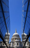 View of St. Paul's Cathedral in London. Royalty Free Stock Images