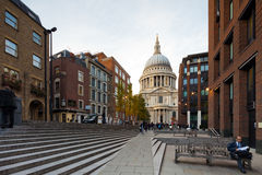 View of the St Paul's Cathedral, London, UK Royalty Free Stock Photo