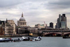 View of St. Pauls Cathedral. With the Thames, London, United Kingdom Royalty Free Stock Photo