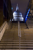 View of St. Paul's Cathedral from the Thames Path Royalty Free Stock Images
