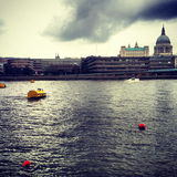 View of St paul's and the Thames from the Southbank, London Royalty Free Stock Image