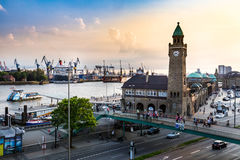 View of the St. Pauli Piers one of Hamburgs major tourist attrac Stock Image
