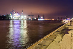 View of the St. Pauli Piers one of Hamburgs major tourist attrac Royalty Free Stock Photos