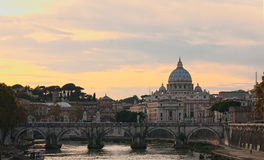 View on St Peter Basilica Royalty Free Stock Image