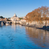 View on St Peter Basilica, Rome in autumn Royalty Free Stock Photography