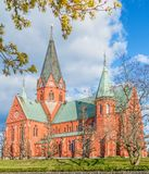 View of St Peter church in Vastervik.Kalmar County.Sweden stock photo