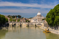 View of St. Peter's Basilica in Rome, Italy Stock Photos